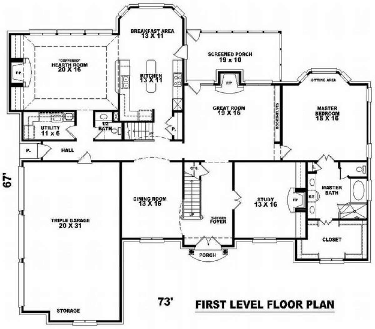 Traditional House Plan 053