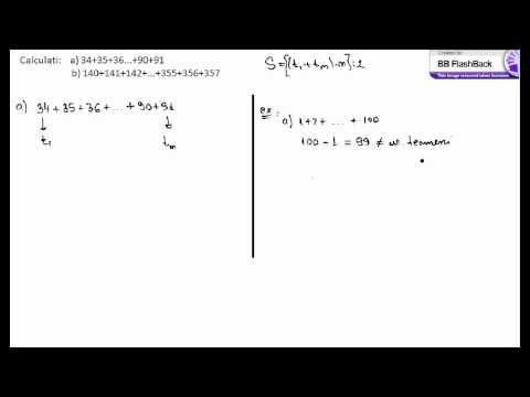 Suma lui Gauss - exercitii rezolvate (5a75).avi - YouTube