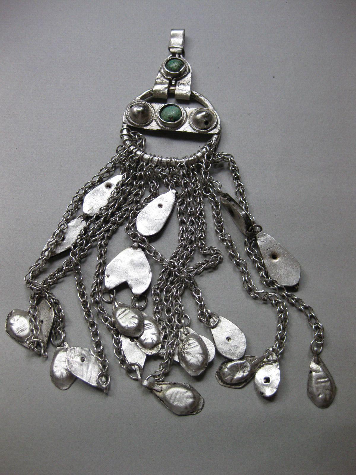 A Silver Saudi Arabian Hair Decoration. Khaneikey.com