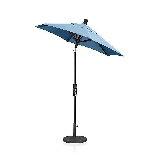 Deck 6 Round Sunbrella Turkish Tile Umbrella Cover Crate And Barrel Patio Umbrellas Large Patio Umbrellas Outdoor Umbrella