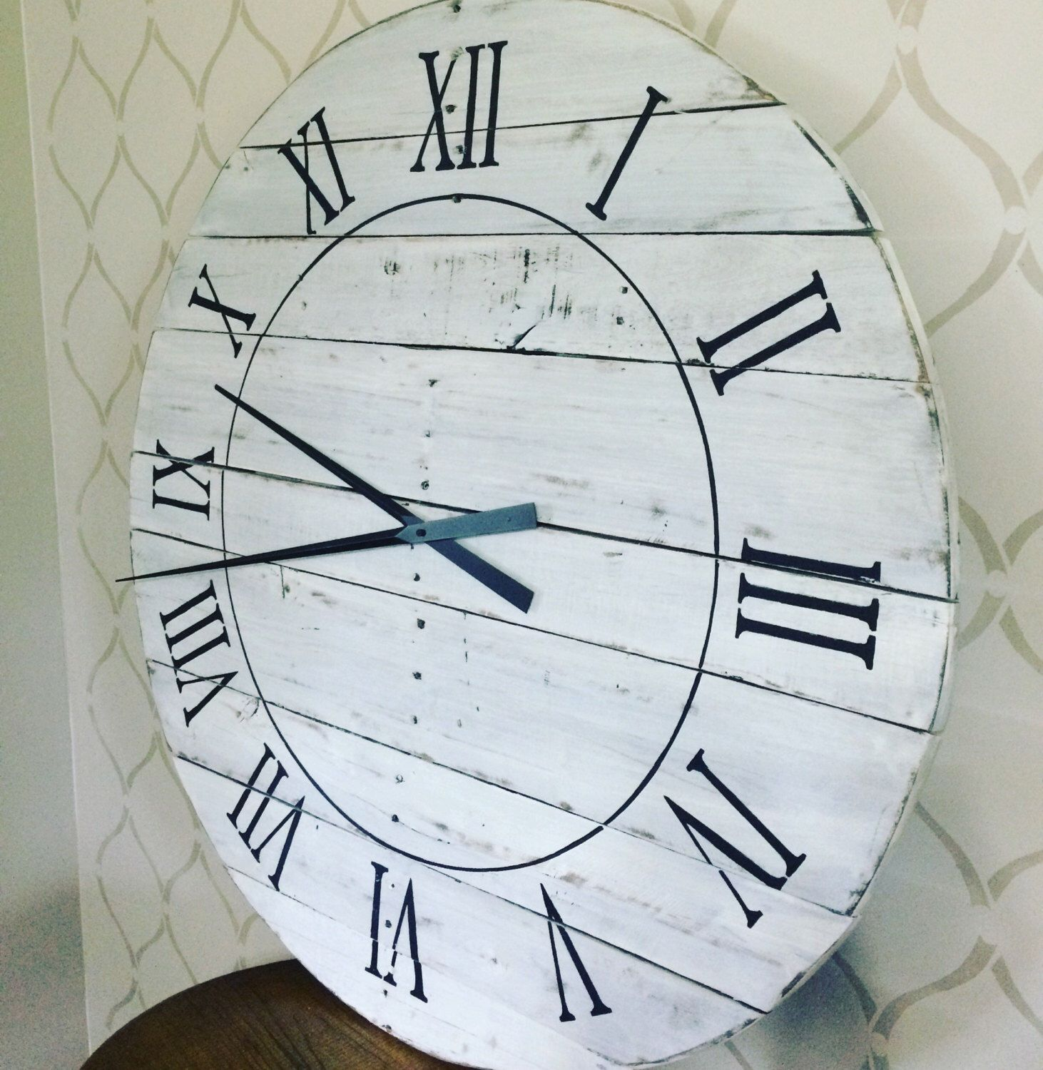 A personal favorite from my Etsy shop https://www.etsy.com/ca/listing/484634543/handmade-reclaimed-wood-clock