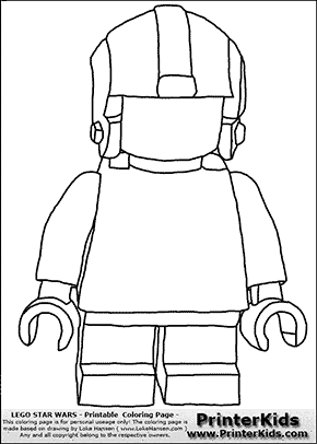 Lego Star Wars Blank Young Anakin Skywalker Pilot With Helmet Coloring Page Preview Tegninger