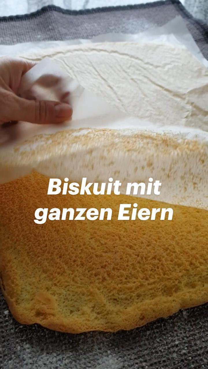 Biskuit mit ganzen Eiern