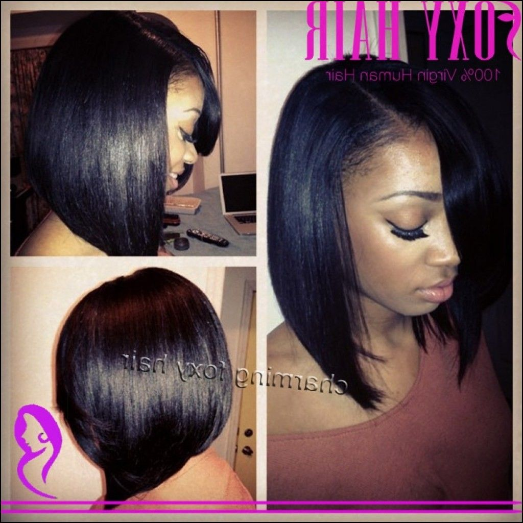 African American Bob Hairstyles Enchanting African American Bob Hairstyles With Weave  Hairstyles Ideas