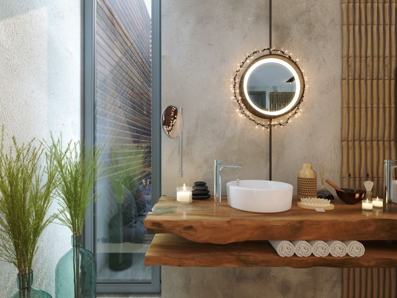 Putz badezimmer ~ Spezieller putz in beton optik fürs badezimmer ev