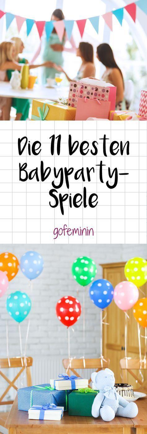 Babyparty: Die schönsten Spiele für die werdende Mami & ihre Gäste #babyshowerparties