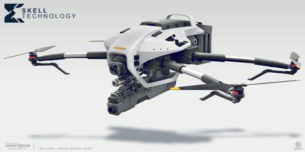 Artstation Ghost Recon Breakpoint Wasp Joe Gloria Drone Design Drone Drones Concept