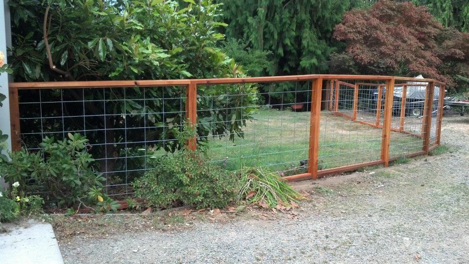 Cedar and Hog Wire Fencing -- @Dana Crews | outdoors | Pinterest ...