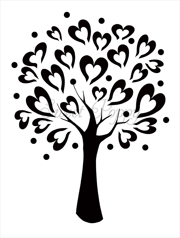 photo regarding Printable Tree Stencils titled tree stencils Cute Poppy Stencil: Tree of Delight in