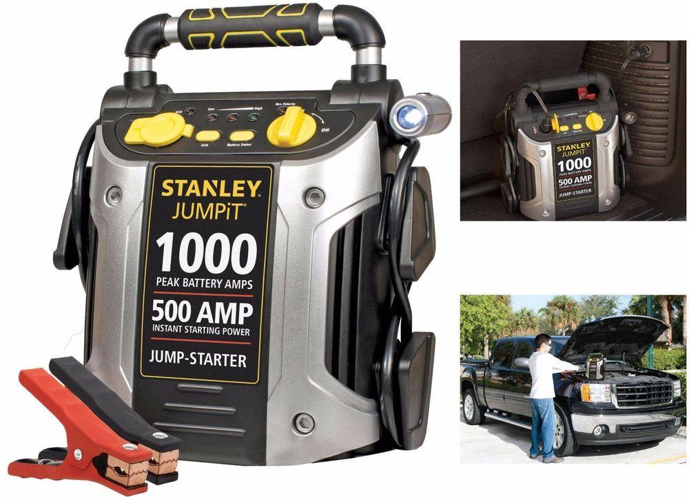 Battery Jump Starter Air Compressor Peak Portable Car Charger Booster 600 1200 A