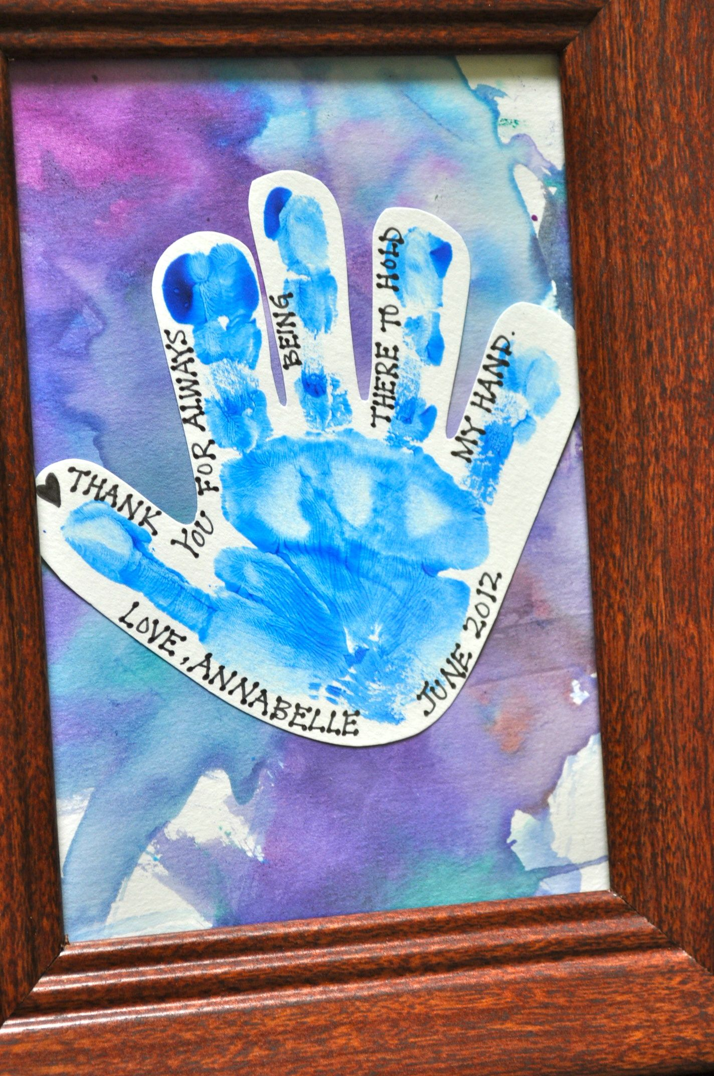 Preschool Crafts For Kids Father S Day Thank You Hand