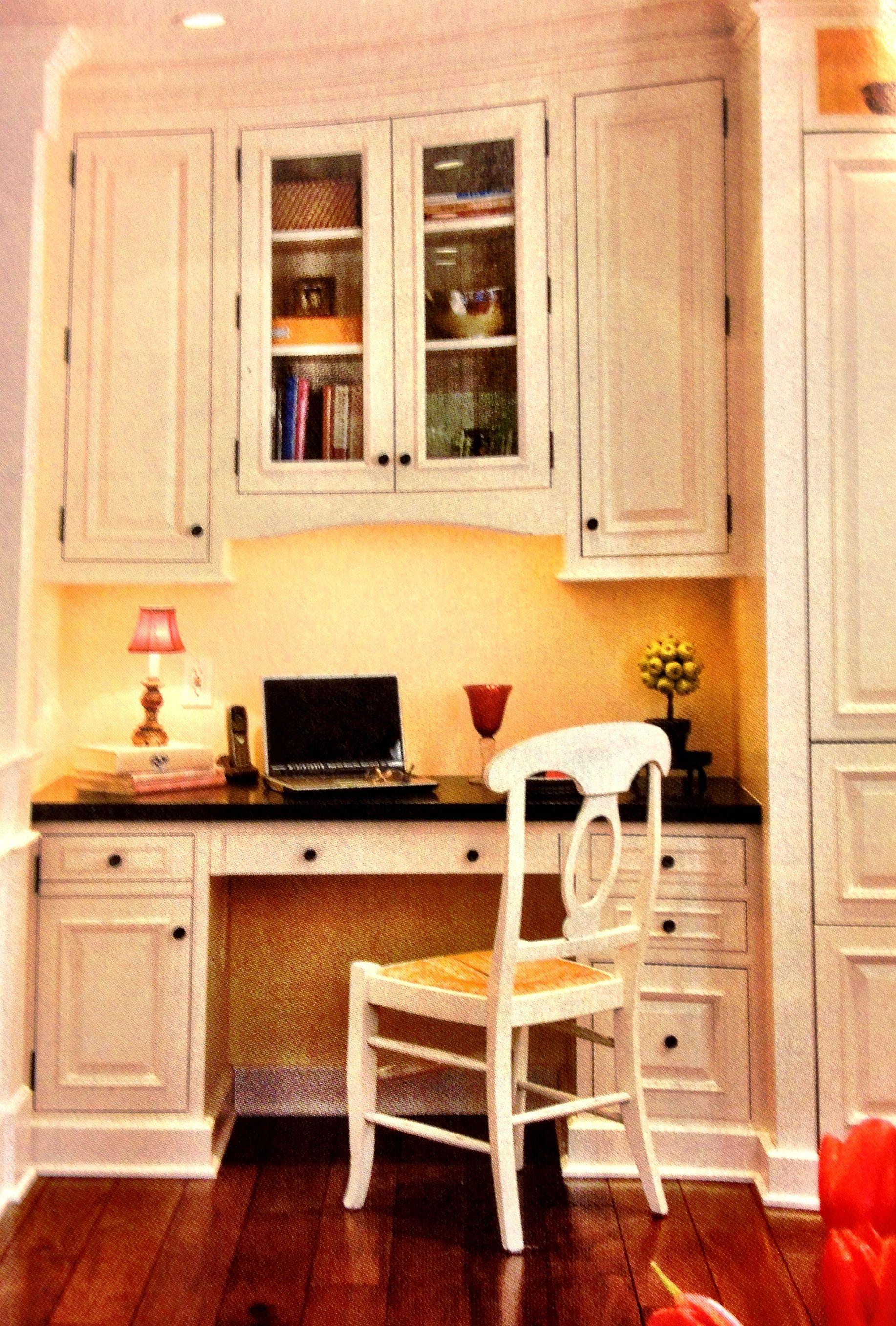 Built In Desk For Kitchen Kitchen Desks Kitchen Desk Areas Kitchen Pantry Design