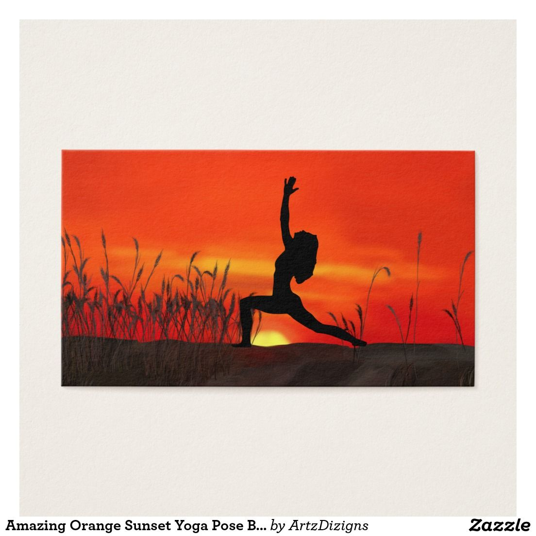 Amazing orange sunset yoga pose business cards yoga poses amazing orange sunset yoga pose business cards reheart Image collections