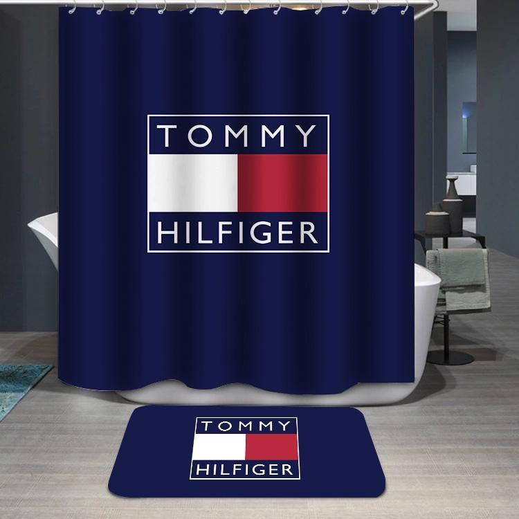 Tommy Hilfiger Logo Custom Shower Curtain Custom Shower Custom