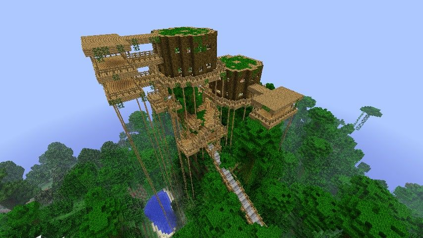 Nice Tree Houses jungle tree house | minecraft creations | pinterest | jungle tree