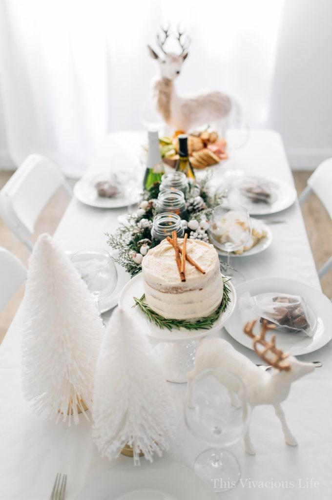 Gluten Free Dinner Party Ideas Part - 39: White Christmas Dinner Party With Gluten-Free Eggnog Cake | Christmas Party  Ideas | Christmas Party Decor | Gluten-free Holiday Cakes | Gluten-free  Holiday ...