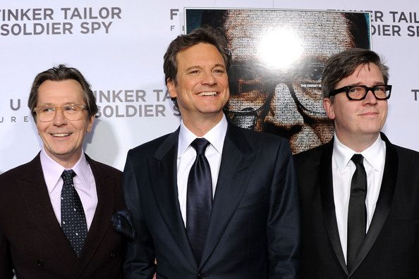 """(L-R) Actors Gary Oldman, Colin Firth and director Tomas Alfredson arrive at the premiere of Focus Features' """"Tinker, Tailor, Soldier, Spy"""" at Arclight…"""