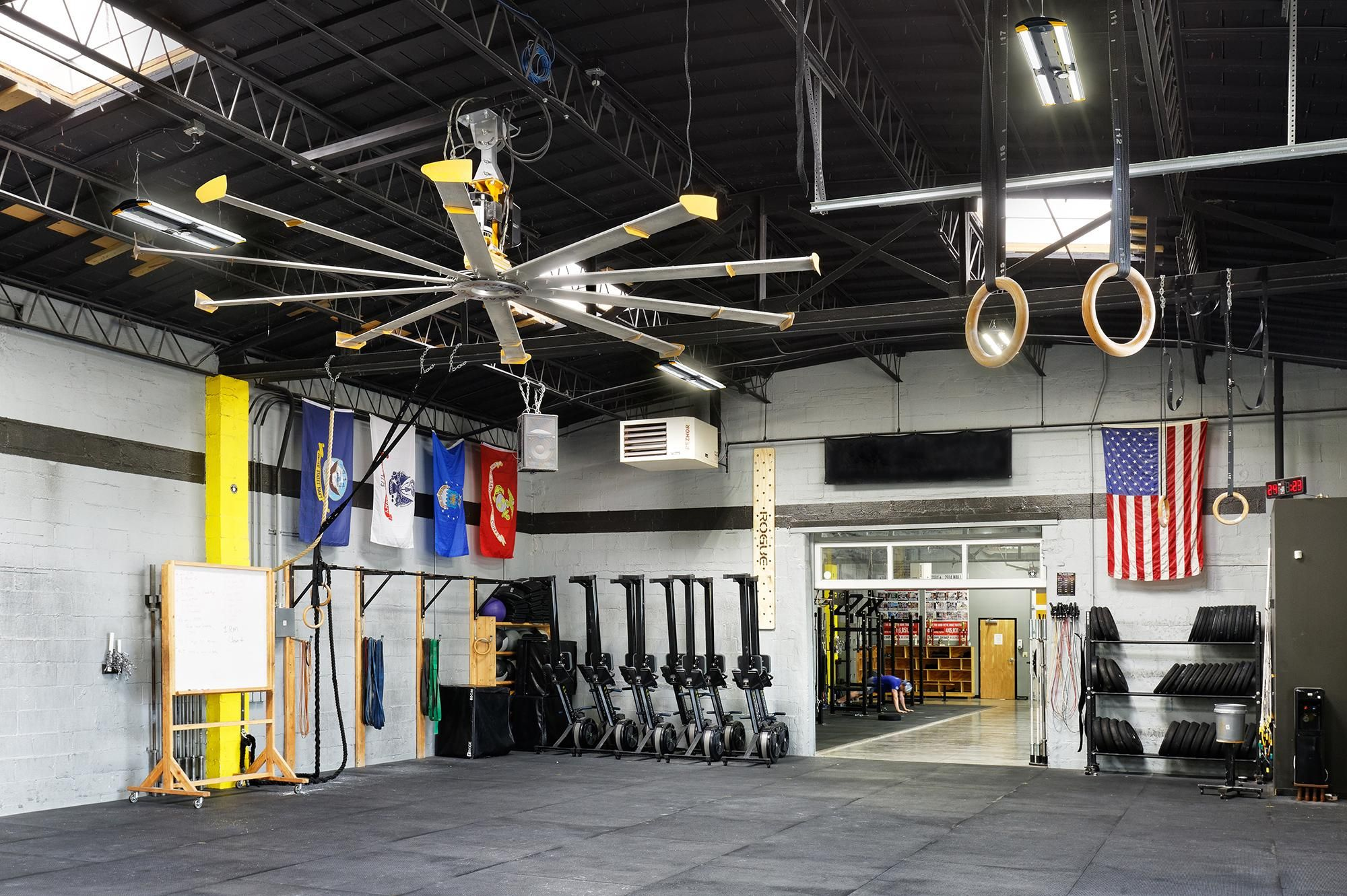 Crossfit maximus big ass fans case study garage gym