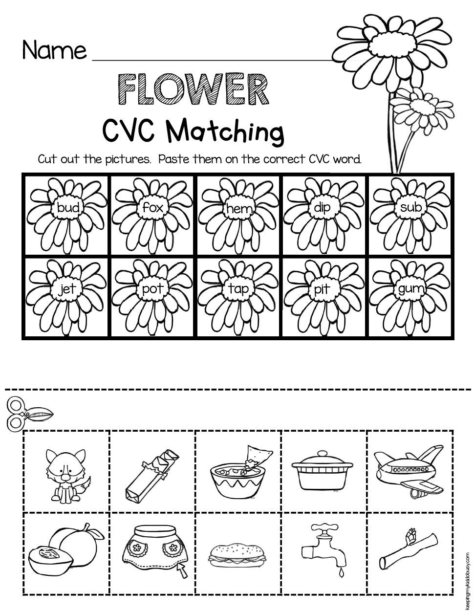 2 Spring Reading Worksheet in 2020 Cvc words