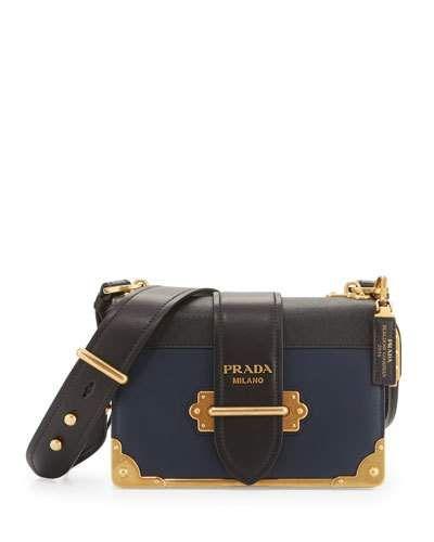 71313aebaa11 PRADA Leather Trunk Shoulder Bag, Baltico $2,960.00  