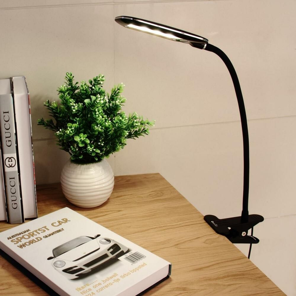 Clip On Bed Lamp Dimmable Flexible Usb Clip On Desk 24 Led Table Reading Book Lamp