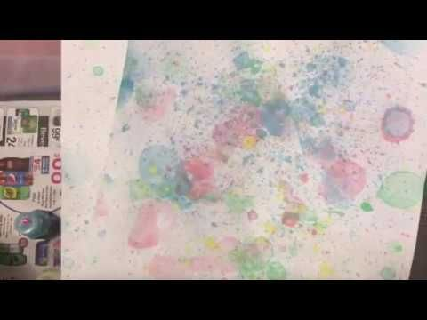 Dyed paper tutorial with colored bubbles - Friday funday | dearjuliejulie