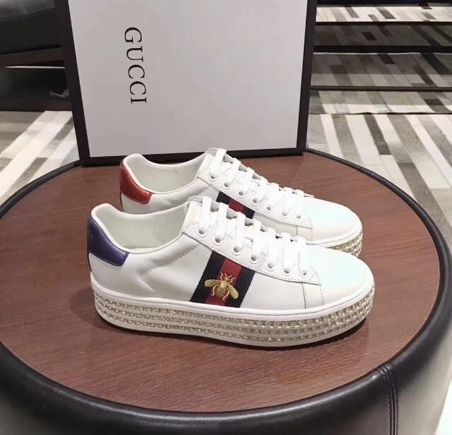 5f8069a0d Gucci Inspired New Ace Crystal Platform Sneaker #blogger #handbag  #celebrity #designer #sneakers #ace #newyork #like4like #supermodel  #instagood #gucci ...