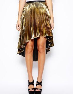 Glamorous Metallic Pleat Skirt