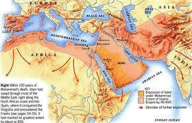 map of reach of islam