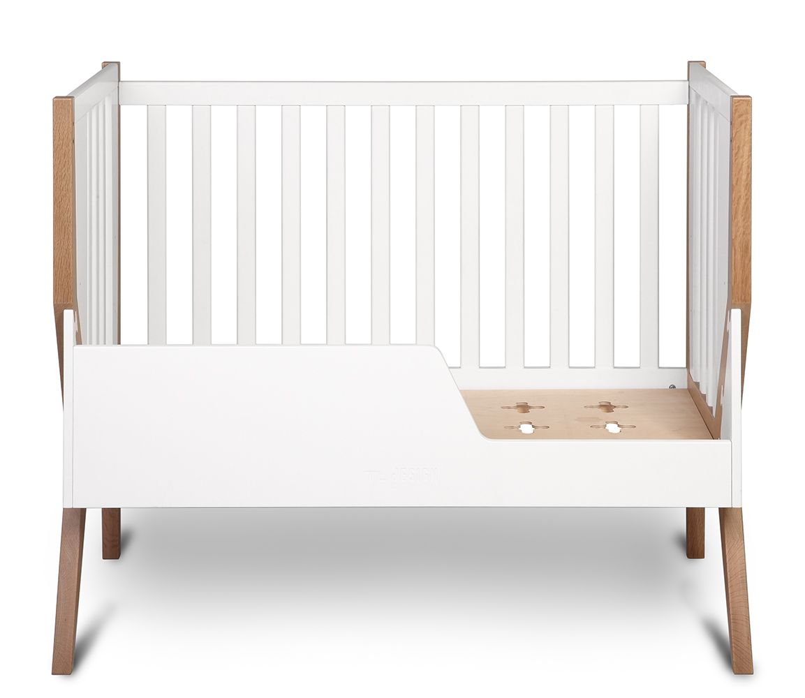 solid wood crib, transformable cot bed , natural baby bed, cotbed