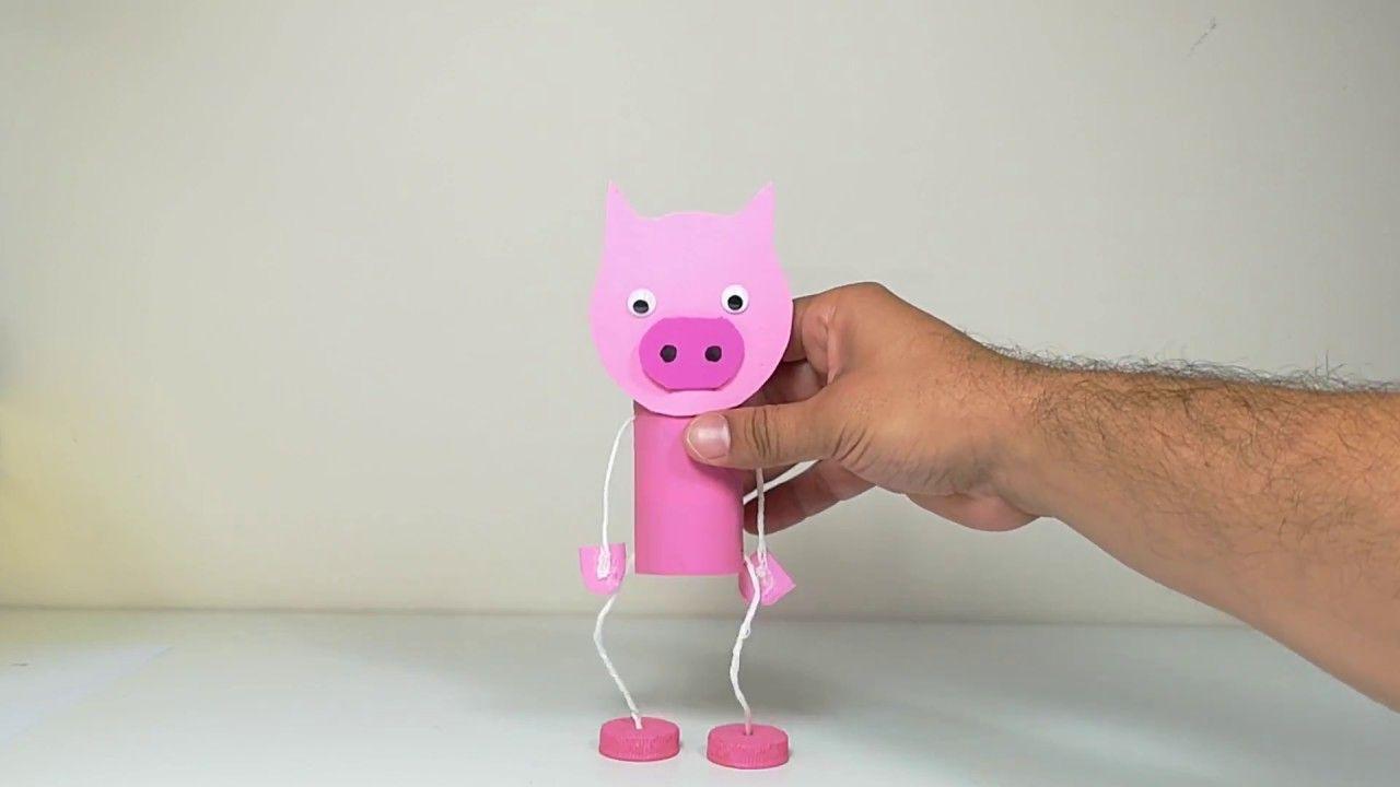 Como Hacer Una Marioneta De Cerdito Como Hacer Marionetas Actividades De Manualidades Para Niños Proyectos De Bricolaje Para Niños