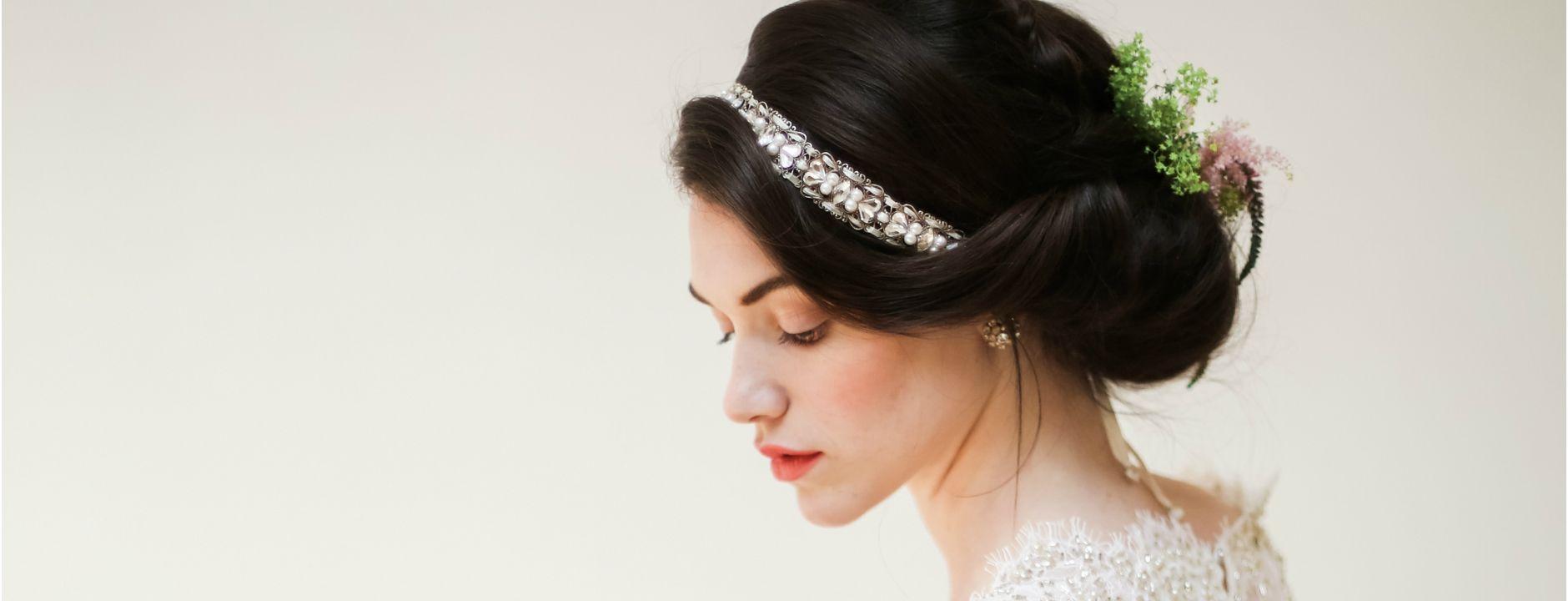 Malena Headband by MEG Wedding Jewelry