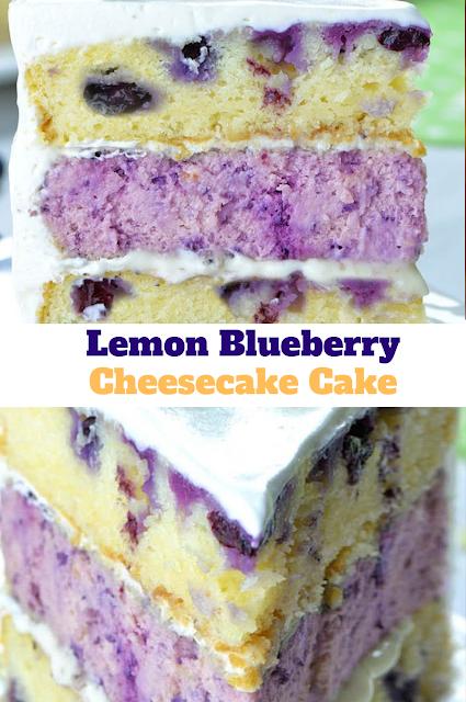 lemon blueberry cheesecake-cake  #lemonblueberrycheesecake