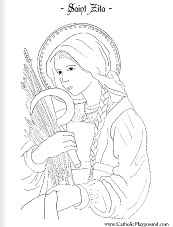 Saint Zita Coloring Page April 27th Saint Coloring Catholic Coloring Coloring Pages