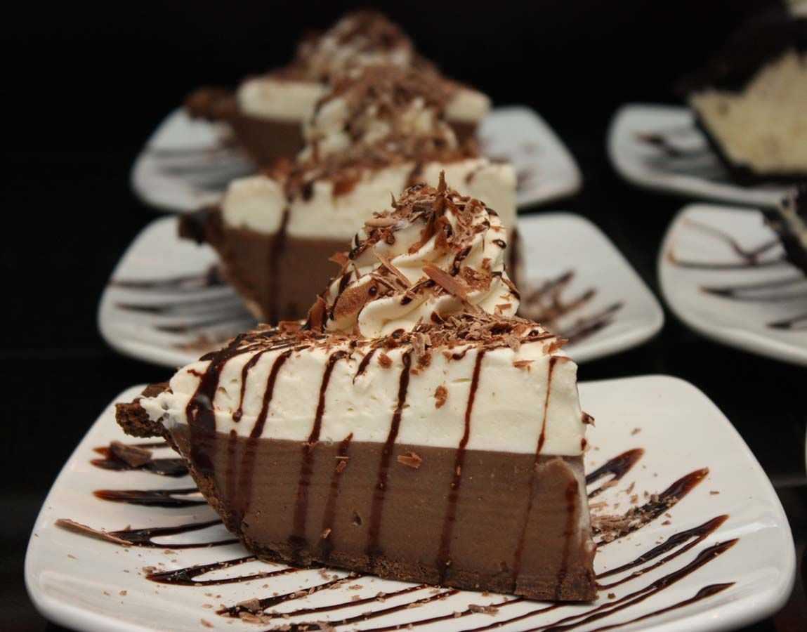 Luby's Chocolate Ice Box Pie Makes one 9-inch pie  2-1/2 cups milk  1-1/3 cups granulated sugar  ¼ cup sweetened cocoa  1 tablespoon butter...