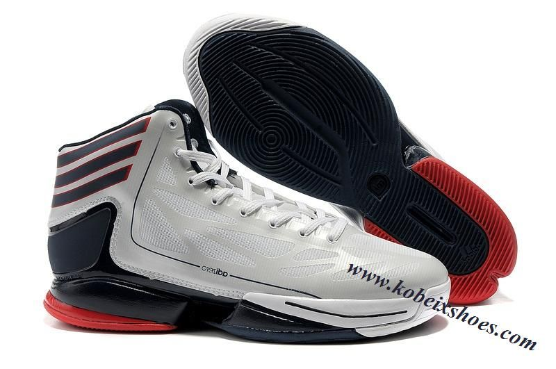1d3935eec44 Adidas Adizero Crazy Light 2 Derrick Rose Shoes White Black Red ...
