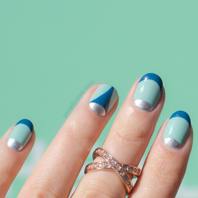 Double French Manicure ft. Essie Fashion Playground for Vitality ...