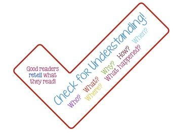 Check For Understanding Checkmark Reminder Daily 5 Daily 5 Understanding Good Readers