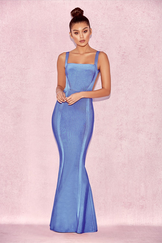 36d884a2a243c Clothing   Max Dresses    Ophelia  Cornflower Blue Backless Maxi Bandage  Dress