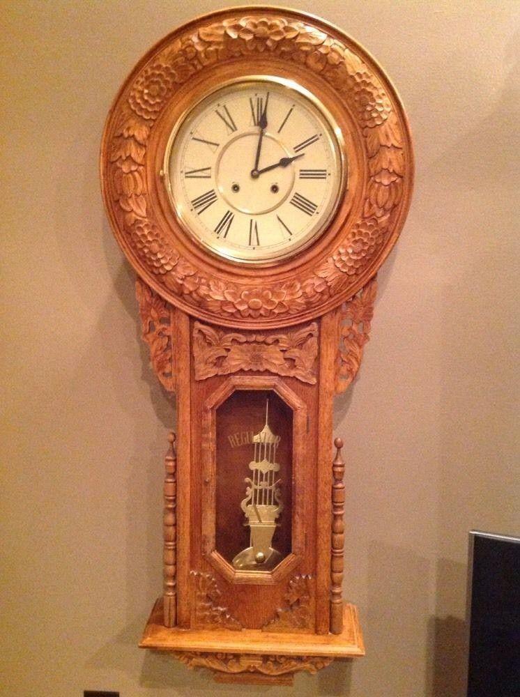 Absolutely Beautiful Large Regulator A Wall Clock Amazing
