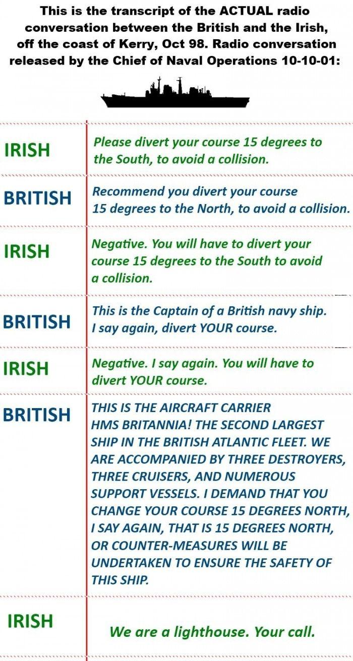 Irish trolling the British