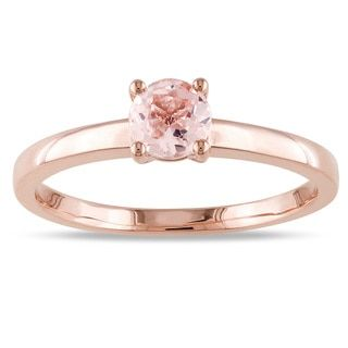 Shop for Miadora 10k Rose Gold Morganite Solitaire Ring. Get free delivery at Overstock.com - Your Online Jewelry Destination! Get 5% in rewards with Club O!