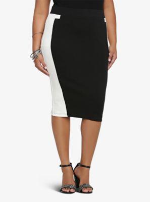 e684c7d5911cb7 Colorblock Pencil Skirt | Things I love | Skirts, Plus size corset ...
