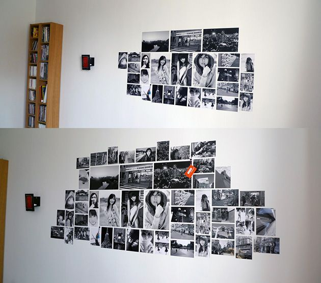 Photo Wall Collage Without Frames: 17 Layout Ideas | Photo display ...