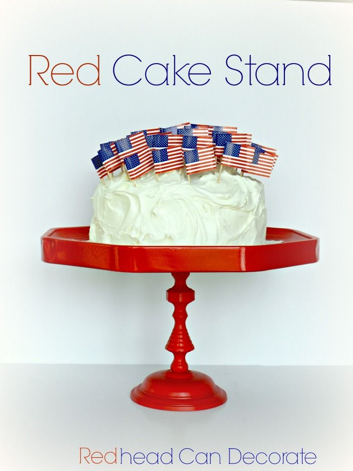 Pottery Barn Knock Off Cake Stand Tutorial & Red Cake Stand | Pottery Barn and Tutorials