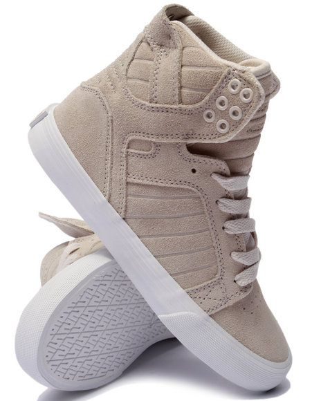 on sale a4ecc 5195e Supra Women Skytop Cream Suede Sneaker Cream 5