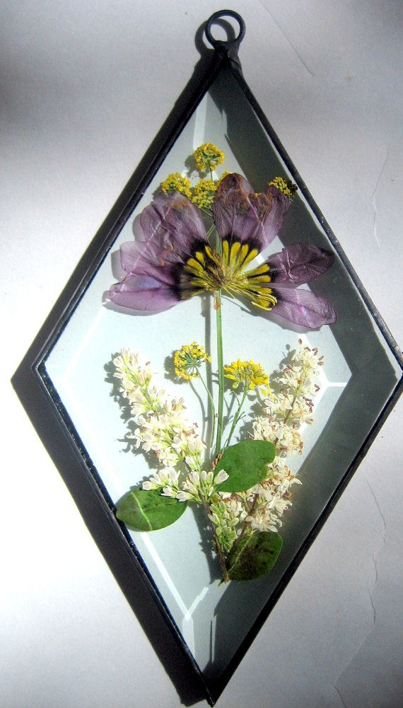 Beveled Glass Flower Panel Sun Catcher