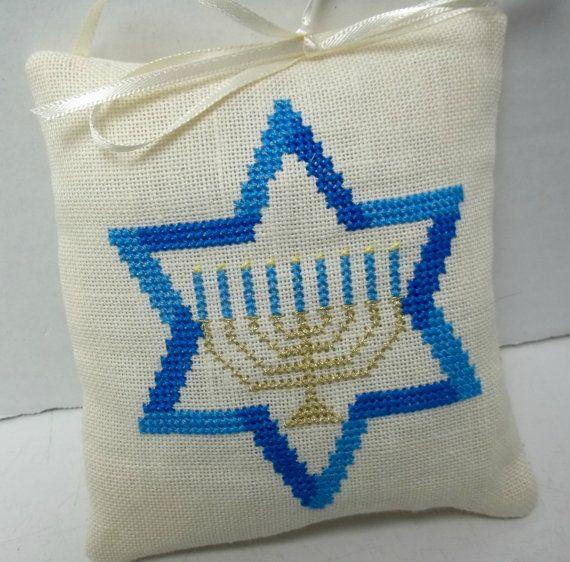 Hanukkah Ornament Star of David Menorah Chanukah Decoration ...