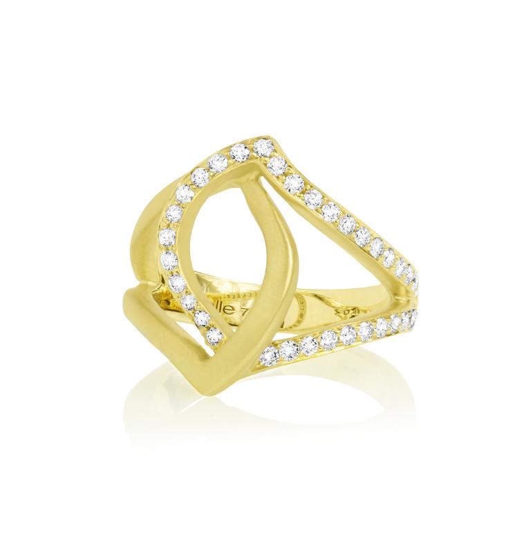 Diamond Pave Athena Ring