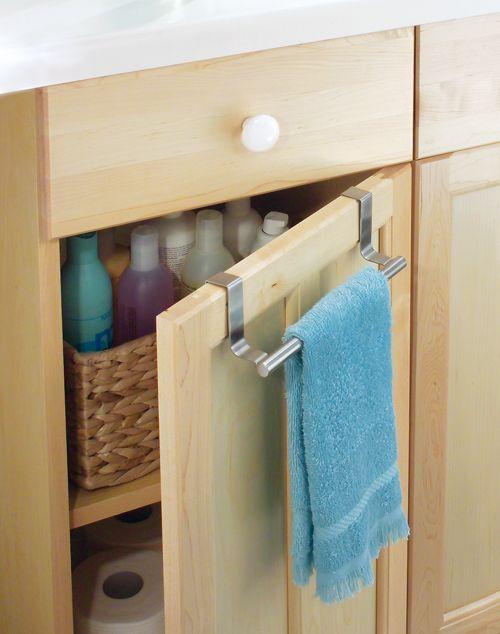 Rangement de la salle de bain  une astucieuse barre porte
